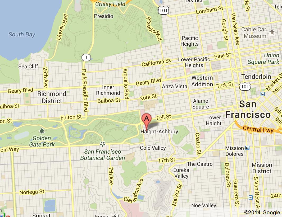 mapa haight ashbury