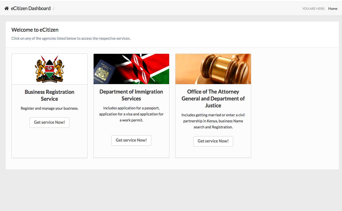 Visado online para Kenya