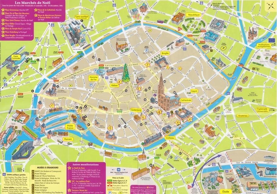 estrasburgo mapa Mapa Estrasburgo 1 | El viaje de tu vida estrasburgo mapa