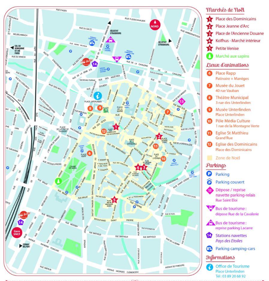 Mapa Mercados de Navidad de Colmar