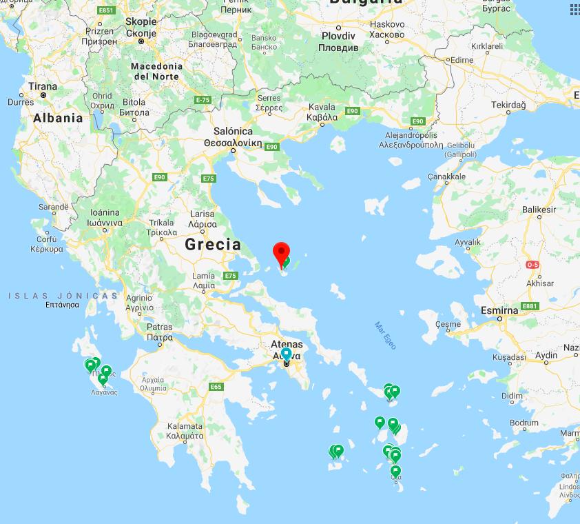 Mapa de Skopelos